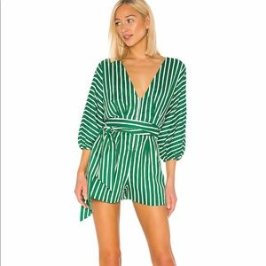 House of Harlow x Revolve Romper - Green - Small